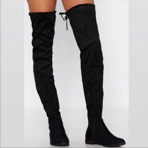 Enzo Angiolini Meloren Black Suede Knee High Boots